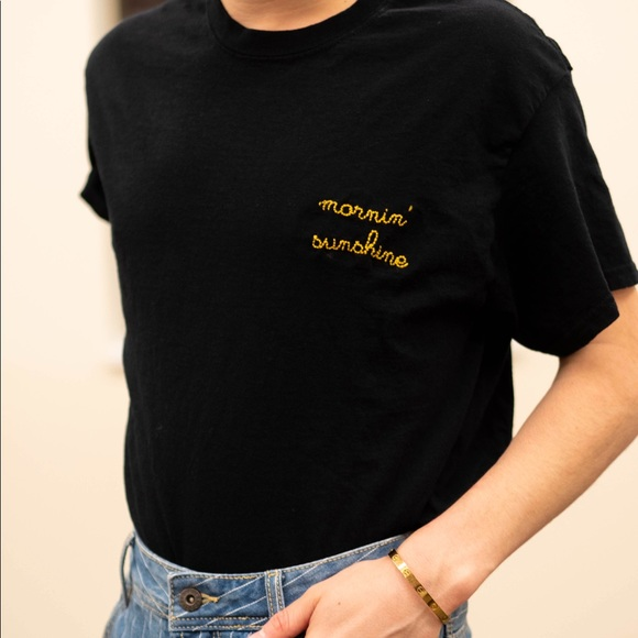 Salty Cold Brew Tops - Mornin' Sunshine Embroidered Tee